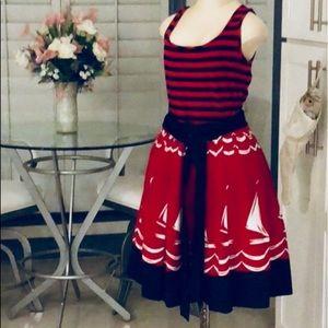 DKNYC Red, White & Blue ALine Dress
